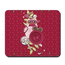 Sassy Hearts and Owl Mousepad