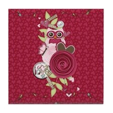 Sassy Hearts and Owl Tile Coaster