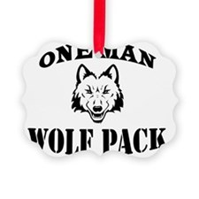One Man Wolf Pack Ornament