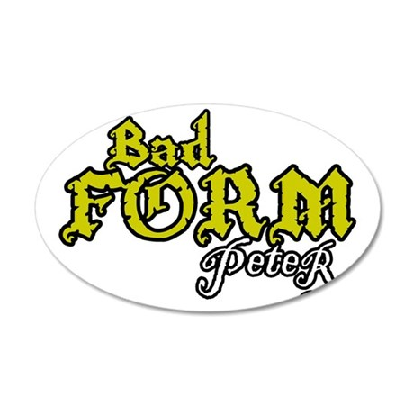 FormBad 35x21 Oval Wall Decal
