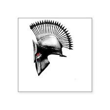 "Naughty Spartan Square Sticker 3"" x 3"""