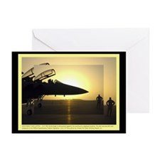 Silhouette at Sunrise Greeting Cards (Pk of 10