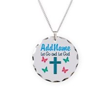 TRUST GOD Necklace Circle Charm