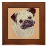 Typical Chinese Pug Framed Tile
