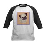 Typical Chinese Pug Kids Baseball Jersey