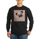 Typical Chinese Pug Long Sleeve Dark T-Shirt
