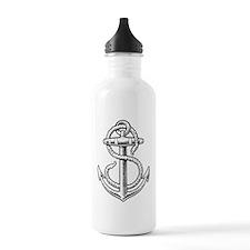sailorukes_anchor_dark Water Bottle