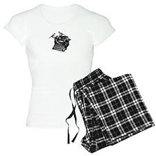 Vintage B&W Typewriter & Birds pajamas