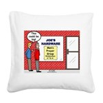 Hardware Prayer Group Square Canvas Pillow