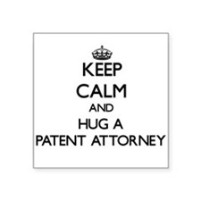 Keep Calm and Hug a Patent Attorney Sticker