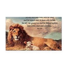 greeting card lion and lamb Rectangle Car Magnet