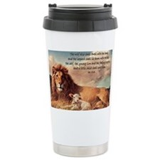 greeting card lion and lamb Ceramic Travel Mug