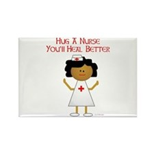 Hug A Nurse Rectangle Magnet (100 pack)