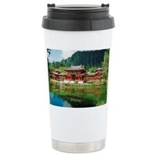 Facade of Byodo-In Temple, Oahu Ceramic Travel Mug