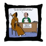 Death Applies to Seminary Throw Pillow
