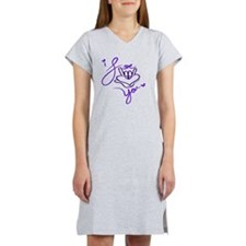 i_love_you_american_sign_langua Women's Nightshirt