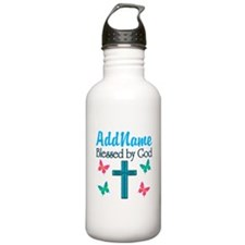 BLESSED BY GOD Water Bottle