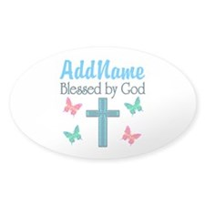 BLESSED BY GOD Decal