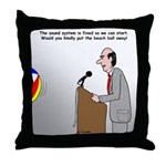 Sound System Delay Throw Pillow
