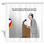 Sound System Delay Shower Curtain