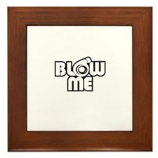 blow me turbo Framed Tile
