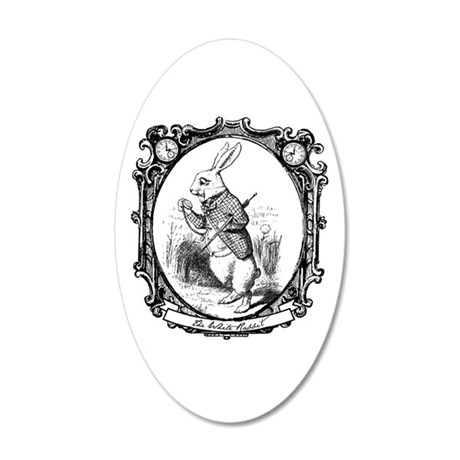 The White Rabbit 20x12 Oval Wall Decal