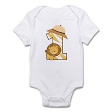 1st Birthday Safari Lion Infant Bodysuit