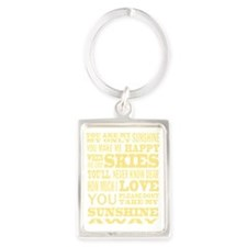 You are my Sunshine Portrait Keychain