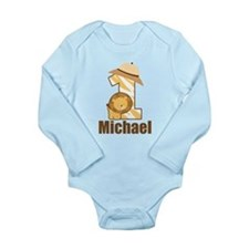Personalized 1st Birthday Safari Lion Body Suit