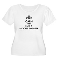 Keep Calm and Hug a Process Engineer Plus Size T-S