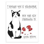 Heart Shredder Kitty Small Poster