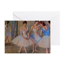 degas dancers with mirror copy Greeting Card