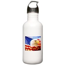 American Bald Eagle Collage Water Bottle