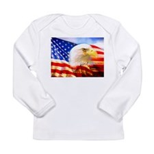 American Bald Eagle Collage Long Sleeve T-Shirt
