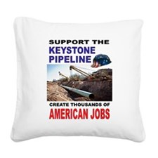 KEYSTONE PIPELINE Square Canvas Pillow