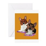 Corgi pair Greeting Cards (Pk of 10)