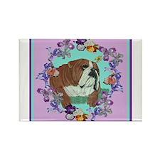 English Bulldog Rectangle Magnet (10 pack)
