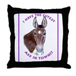 A cute Jack Ass! Throw Pillow