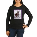 A cute Jack Ass! Women's Long Sleeve Dark T-Shirt