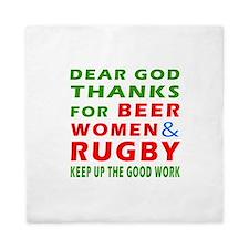 Beer Women and Rugby Queen Duvet