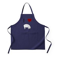 I-Heart-Pig Apron (dark)