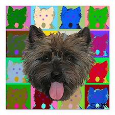 "Cairn Terrier Square Car Magnet 3"" x 3"""