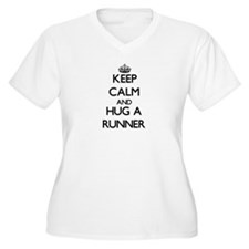 Keep Calm and Hug a Runner Plus Size T-Shirt