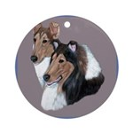Smooth and Rough Collie Ornament (Round)