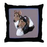 Smooth and Rough Collie Throw Pillow