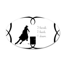 Barrel Racing 3 barrels Wall Decal