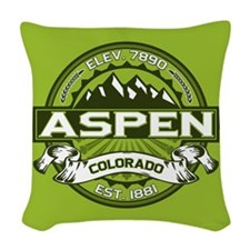 Aspen Green Woven Throw Pillow