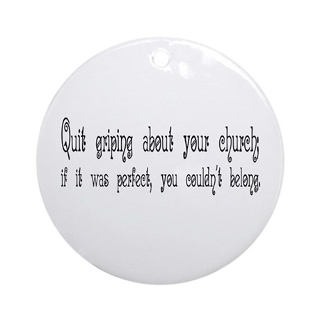 Perfect Church Ornament (Round)