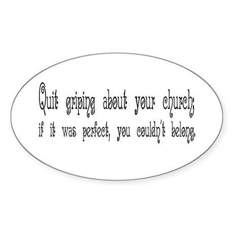 Perfect Church Oval Sticker