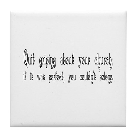 Perfect Church Tile Coaster